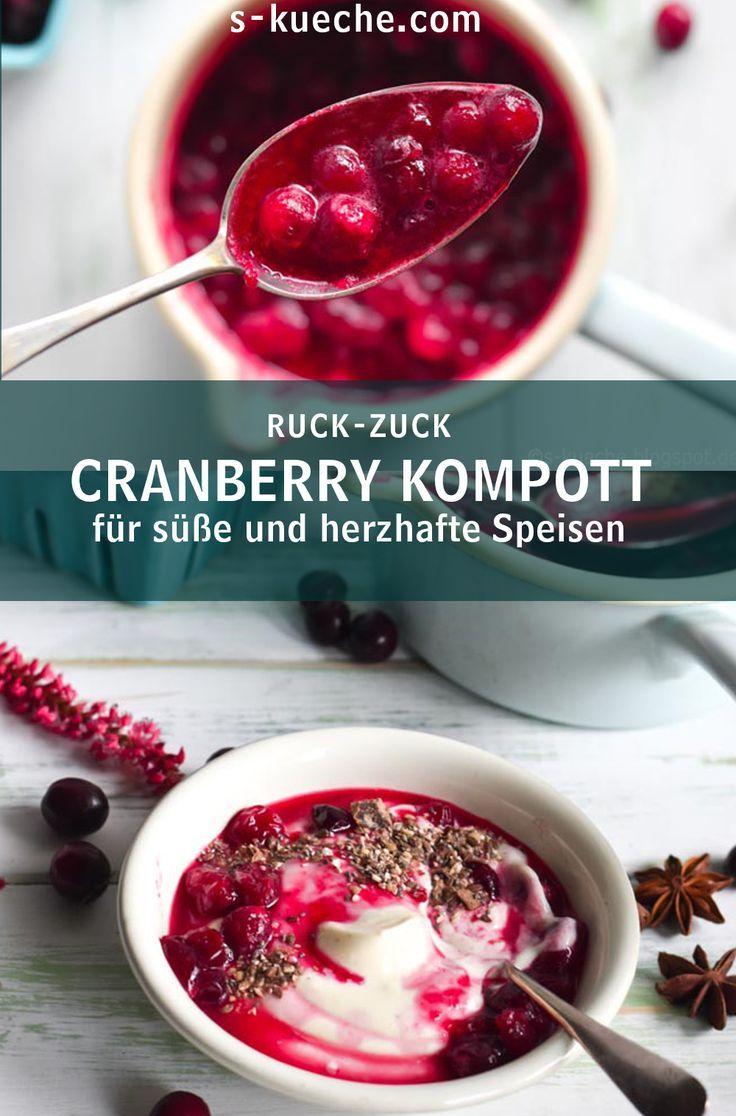 Cranberry Sauce - Cranberry Kompott - Ruck.Zuck gekocht Pur, oder mit Orange und Gewürzen