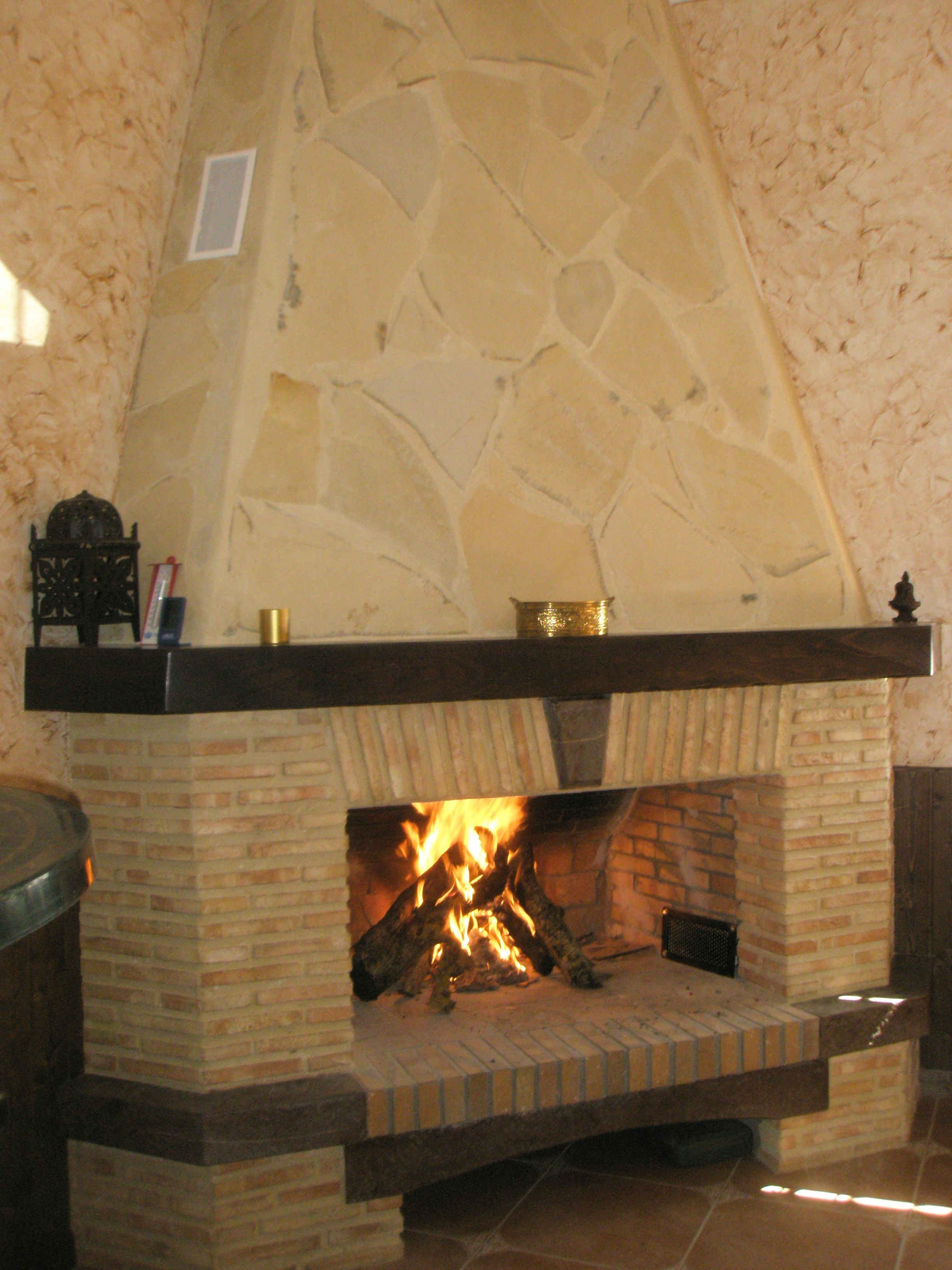 chimenea rustica obras realizadas pinterest living rooms