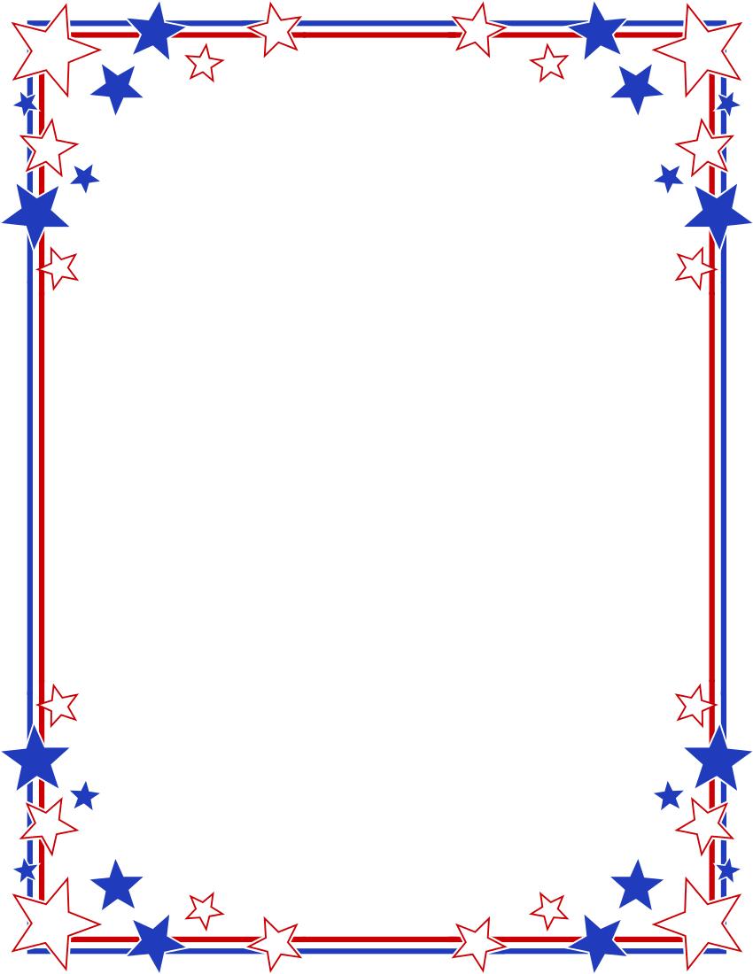 stripes page border stars stripes border clipart 4th of july rh pinterest com Free Printable Patriotic Clip Art free patriotic clip art borders