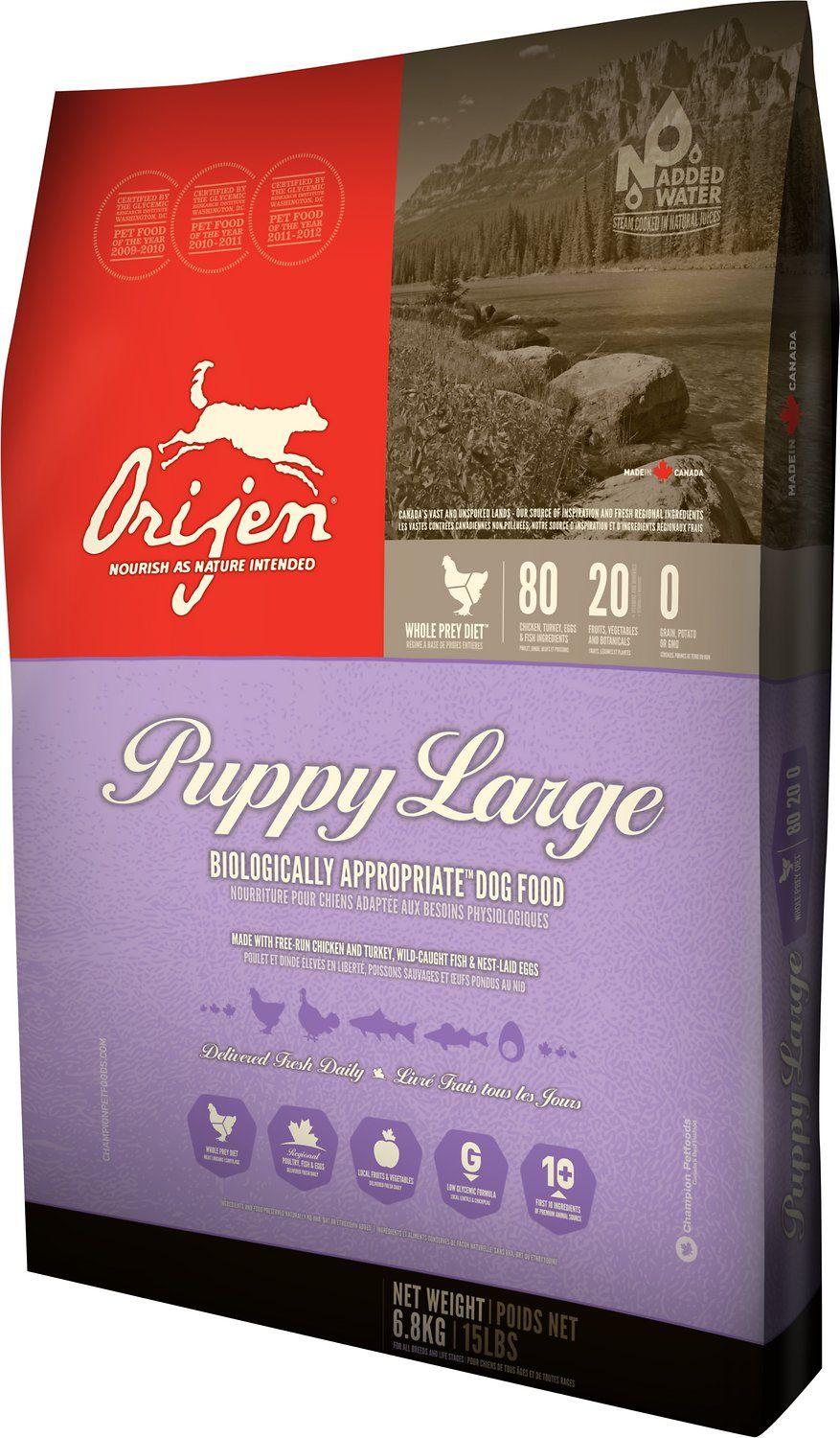 Orijen Puppy Large Breed Grain Free Dry Dog Food Option 28 6 Lb Bag