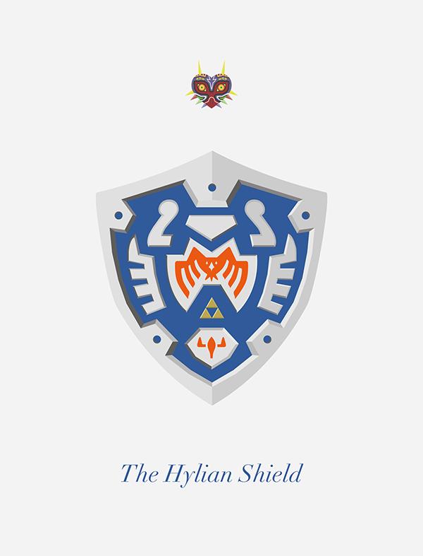 The Hylian Shields By George Oliver On Behance Legend Of Zelda Legend Small Art