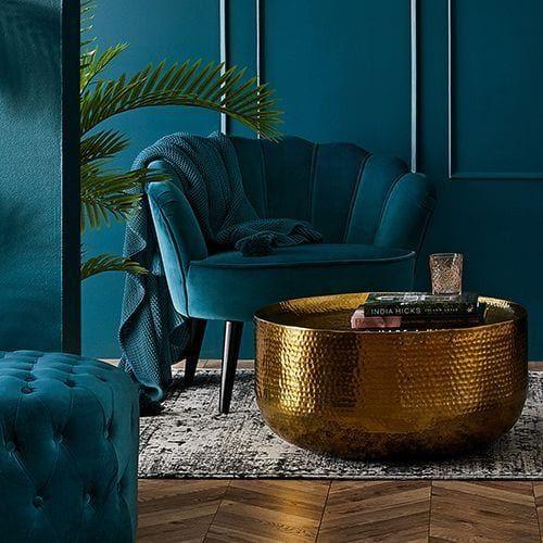 Los muebles en velvet están de moda