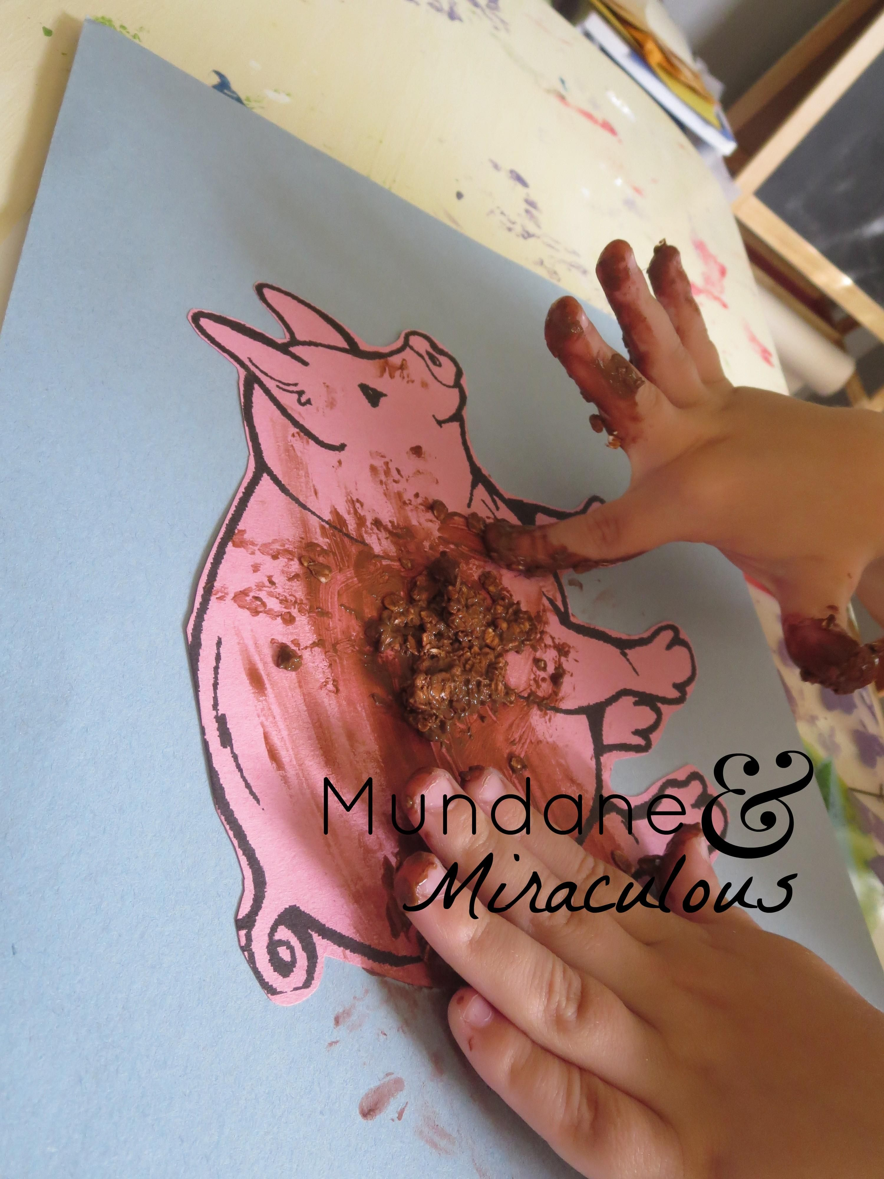 Farm Unit Messy Pig Craft