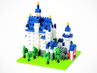Nano Block Castles With Images Neuschwanstein Castle Castle Building Toys