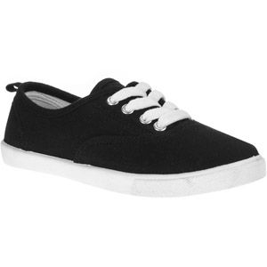 Faded Glory Girl's Canvas Lace-up Sneakers