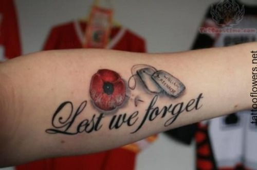 poppy tattoo lest we forget tattoo pinterest poppies tattoo tattoo and army tattoos. Black Bedroom Furniture Sets. Home Design Ideas