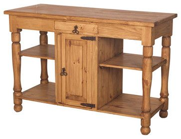 Rustic Pine Kitchen Island Islands And Carts
