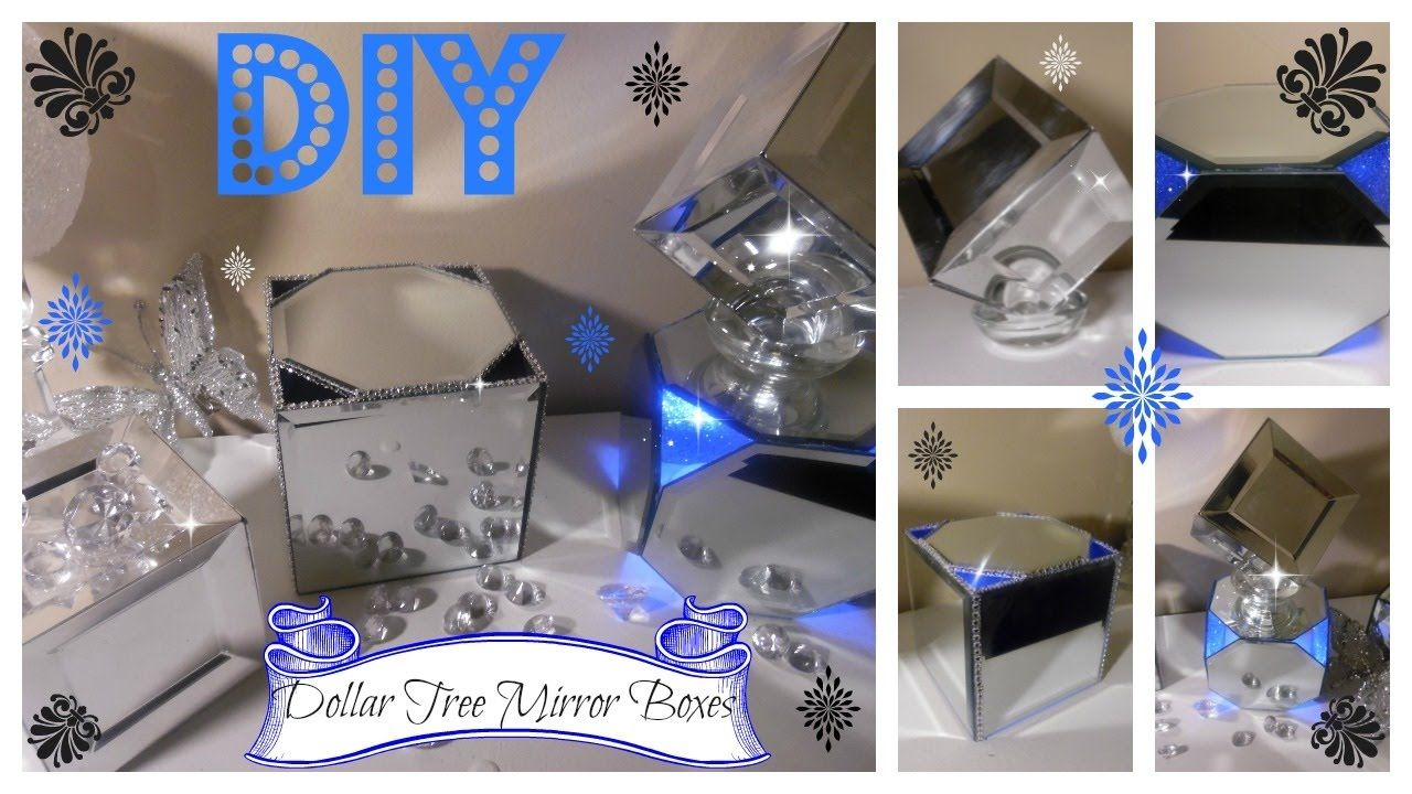 Quick And Inexpensive Wedding Decorations Of Diy Beautiful Mirror Boxes Using Dollar Tree Mirrors