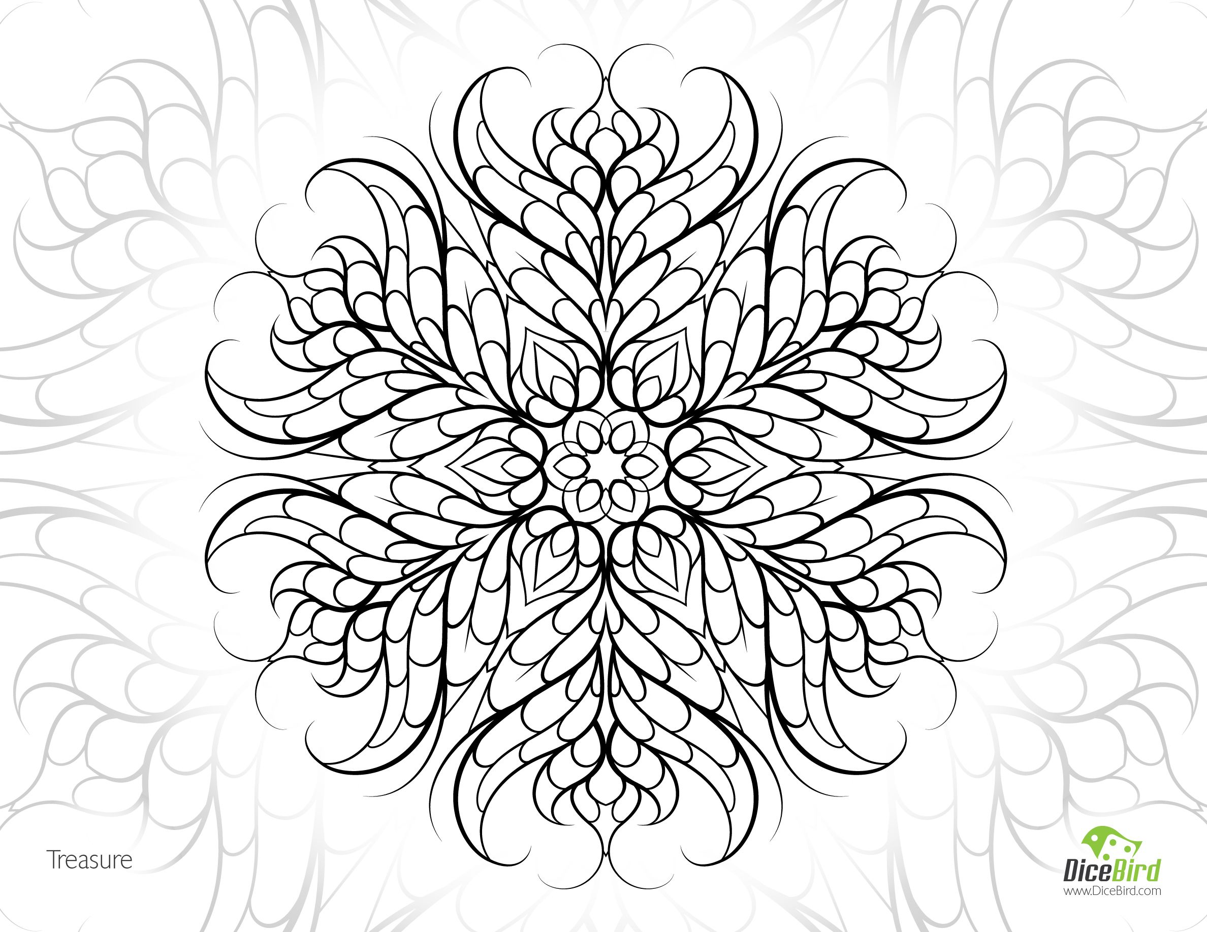 Adult coloring pages free printables mandala - Treasure Free Adult Printable Mandala Adult Colouring Page