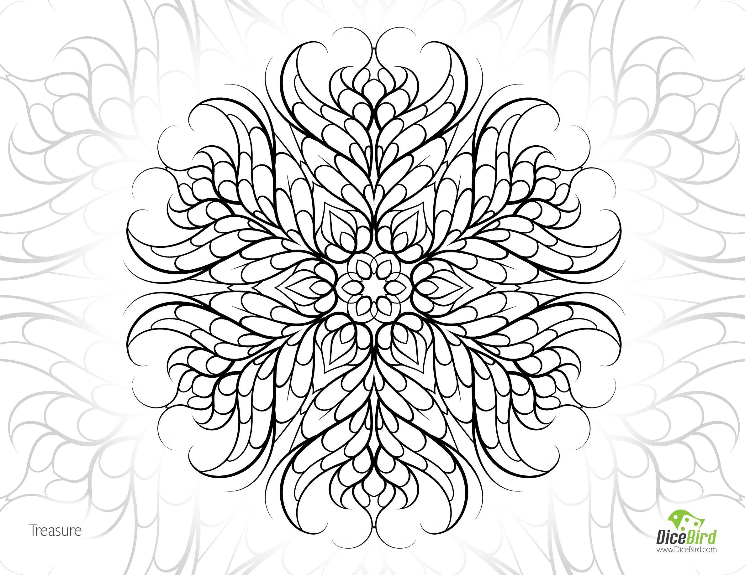 Treasure free adult printable mandala adult colouring page Mental