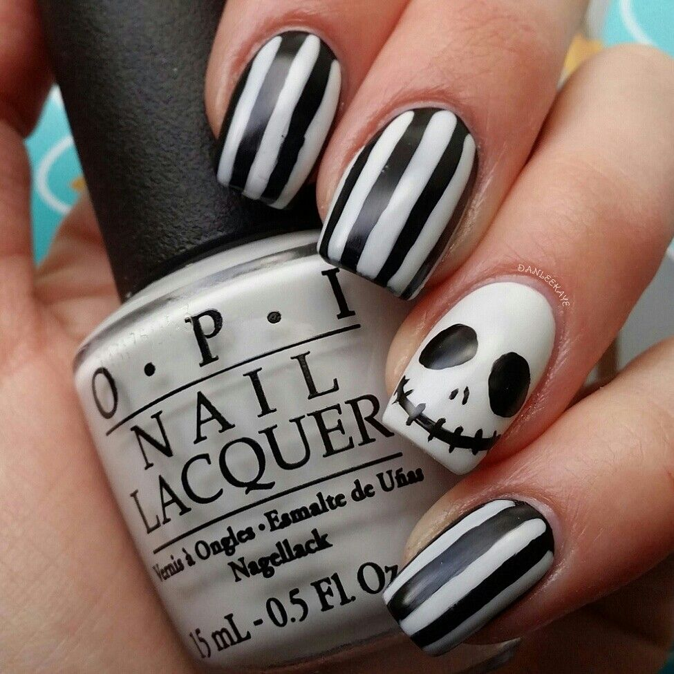 The Nightmare Before Christmas nails inspired by Cute Polish. IG ...