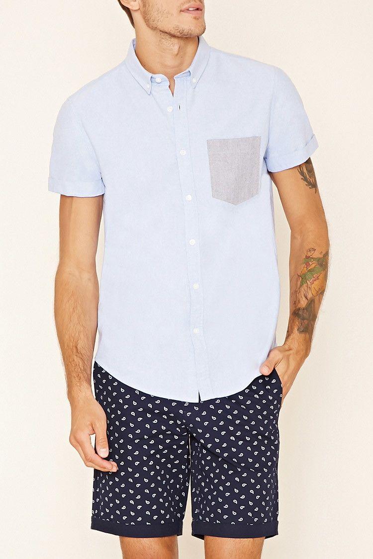 e16c049f2f Contrast-Pocket Cotton Shirt