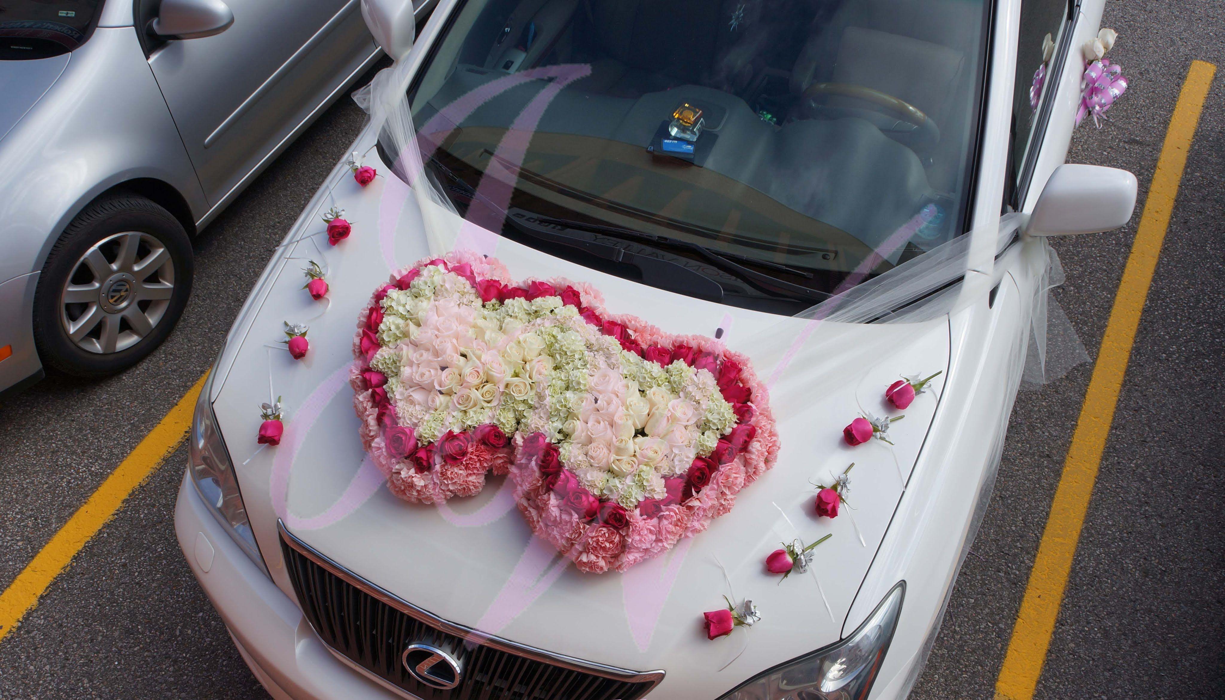Wedding car flower decoration images  تزيين سيارات الاعراس  car decoration   Bodas  Wedding
