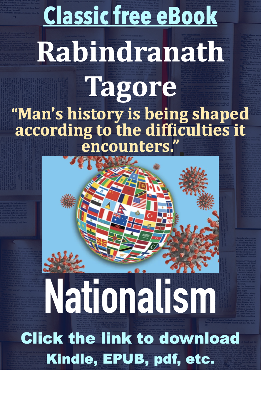 Classic free eBook, Nationalism by Rabindranath Tagore