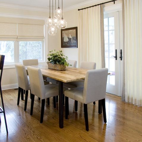Dining Room Lighting Design Ideas Pictures Remodel And Decor Dining Room Lighting Dining Room Contemporary Dining Room Curtains