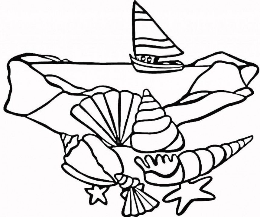 sea shellsbeach theme coloring page from seas and oceans category select from 24851 printable crafts of cartoons nature animals bible and many more - Seashell Coloring Pages Printable
