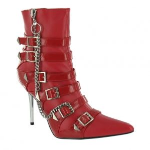 Nitelife Electra 01 Womens High Heel Ankle Boots - Red