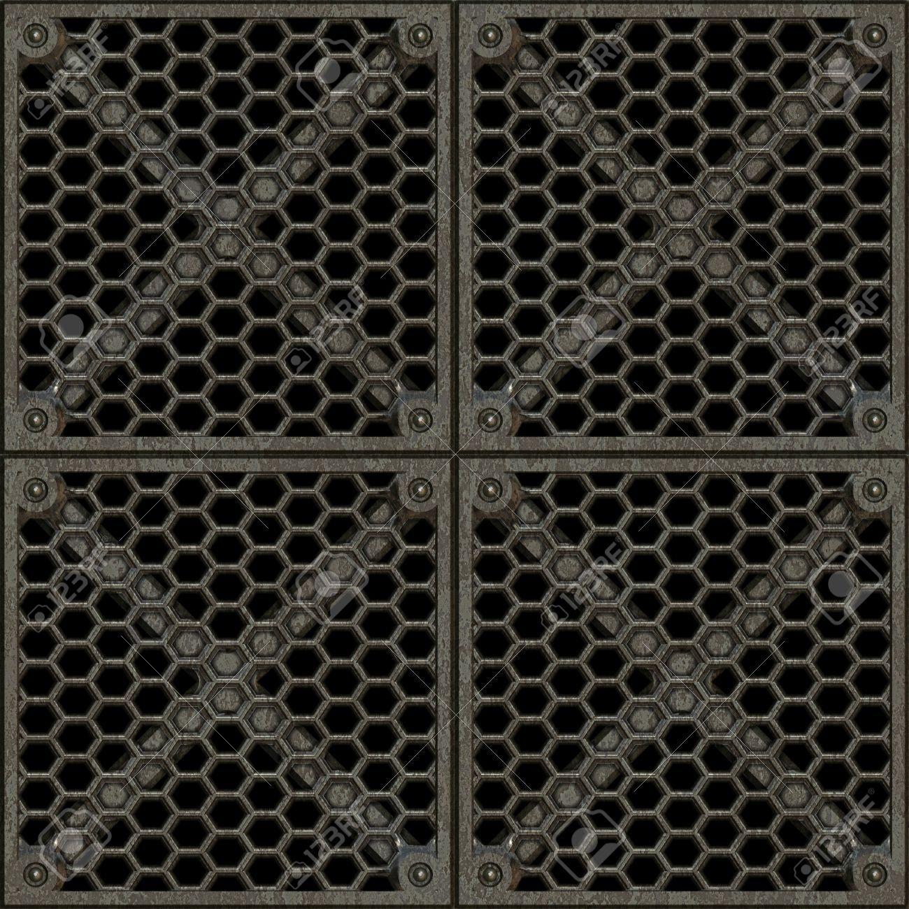 Stock Photo - Steel Grate Seamless Texture Tile | iLIKE ...