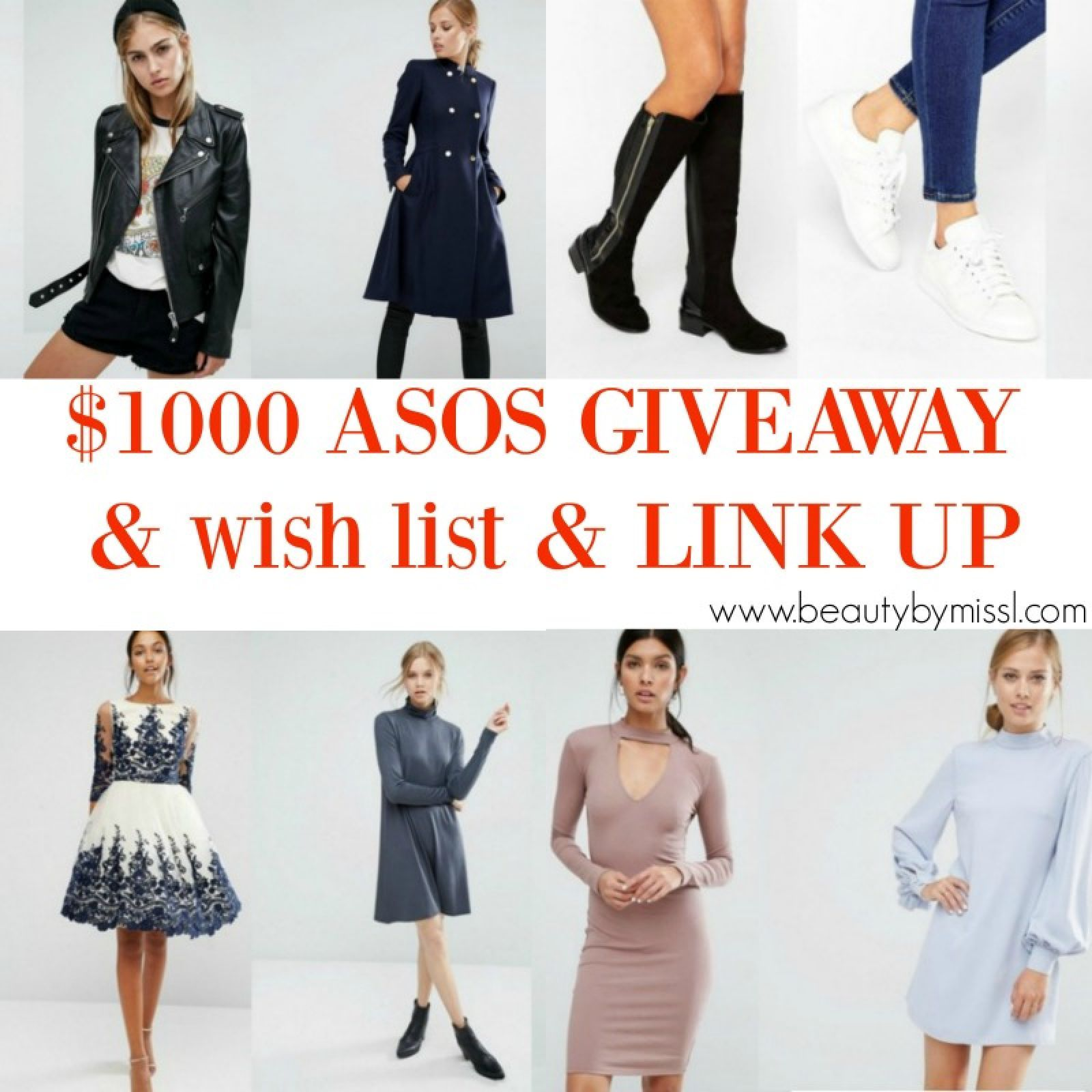 $1000 ASOS GIVEAWAY & wish list & LINK UP - http://www.beautybymissl.com/2016/09/asos-wish-list-link-up.html