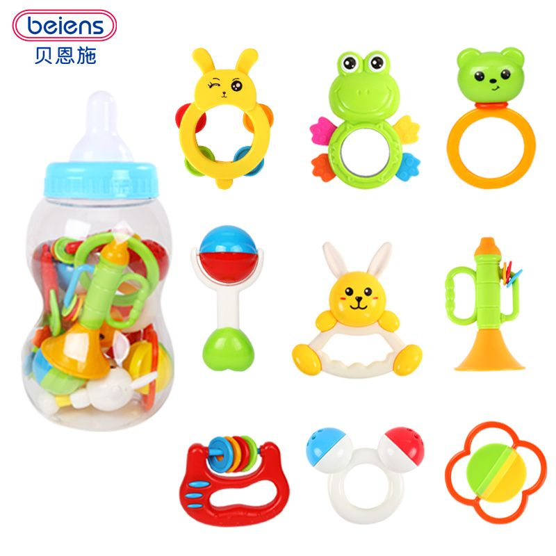 Plastic Kids Baby Rattle Toy Shaking Bells Lovely Toys Early Educational Toys
