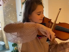 10 Year Old Violinist Performs Silent Night With Mother Brother In An Act That Ll Make You Cry Violinist Make You Cry Silent Night