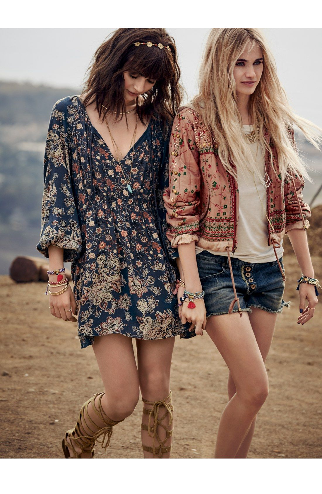 The Dress Free People Quilted Hoodies Cutoff Denim Shorts