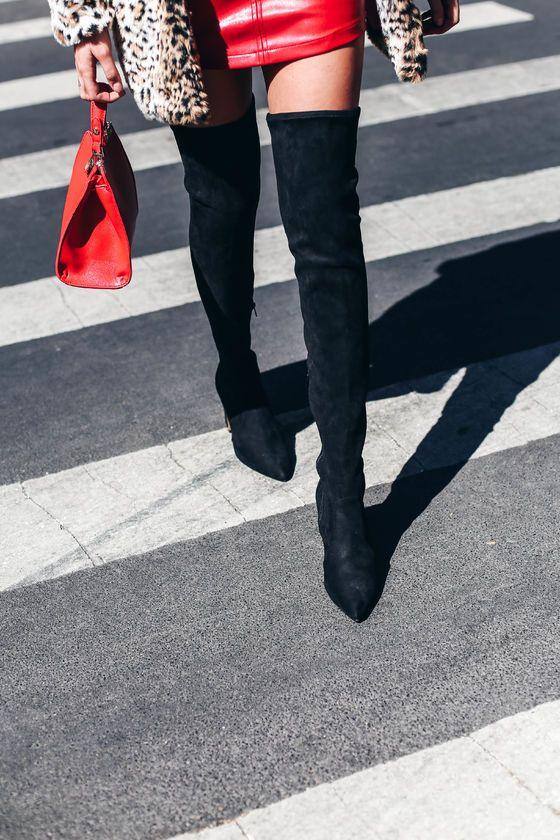 5e92be2de95 Krystan Black Suede Thigh High Boots | SHOES | Thigh high boots ...