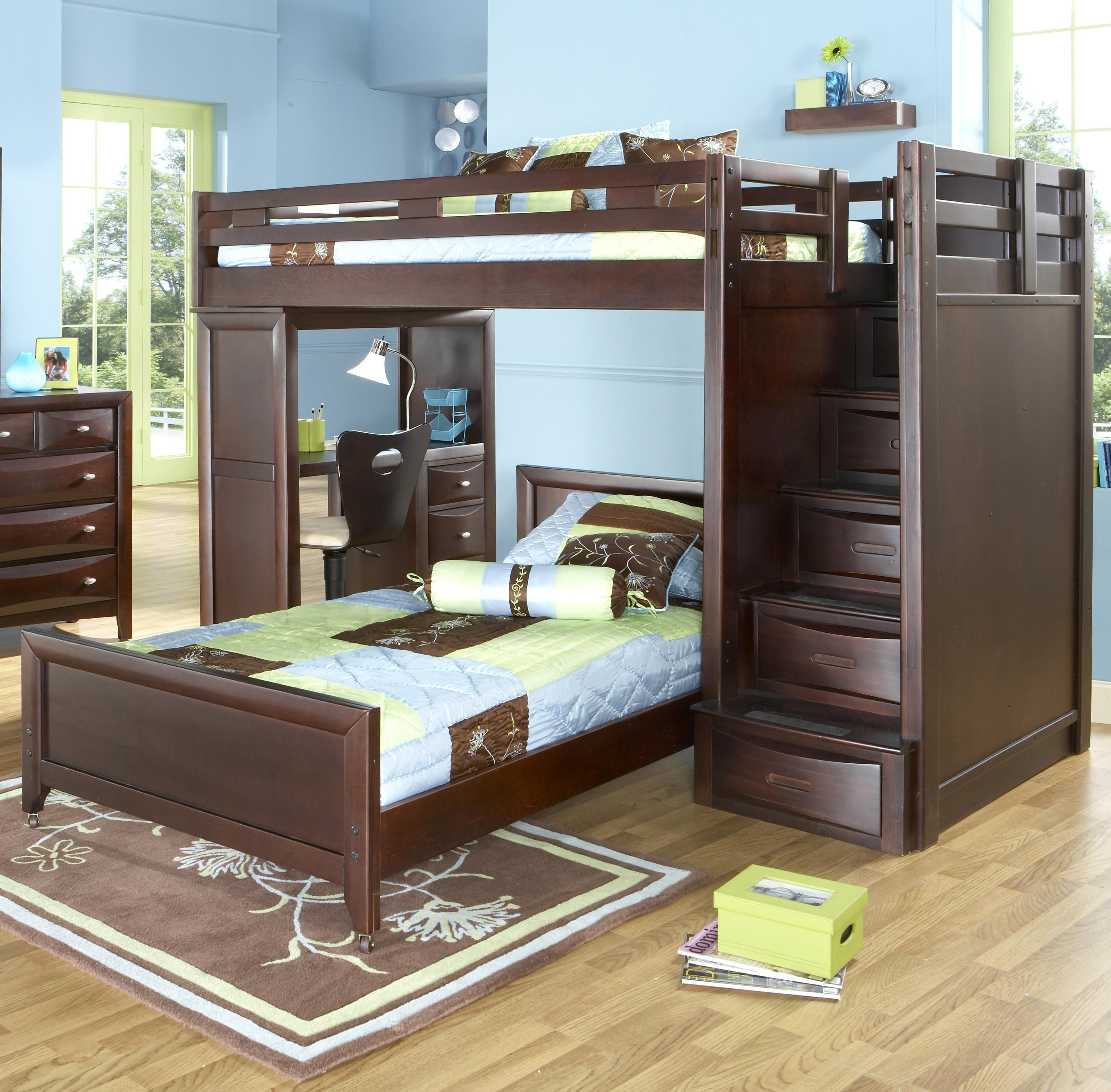 Rooms To Go Bunk Bed With Stairs Novocom Top