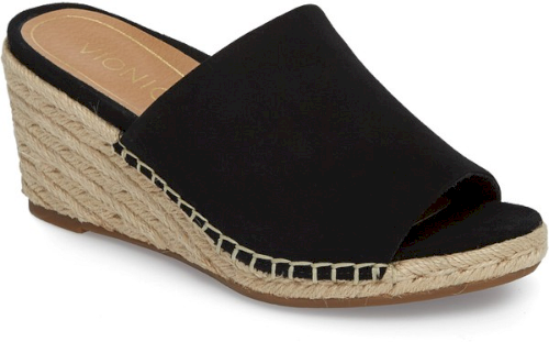 271c62f2da8d Vionic Kadyn Espadrille Wedge Sandal in Black. Signature Orthaheel  technology offers effortless balance, stability and biomechanical support  in a ...