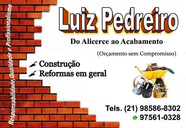 Construção e Reforma em Geral, Pedreiro, Pintor e Ladrilheiro, , Alvenaria, Hidráulica