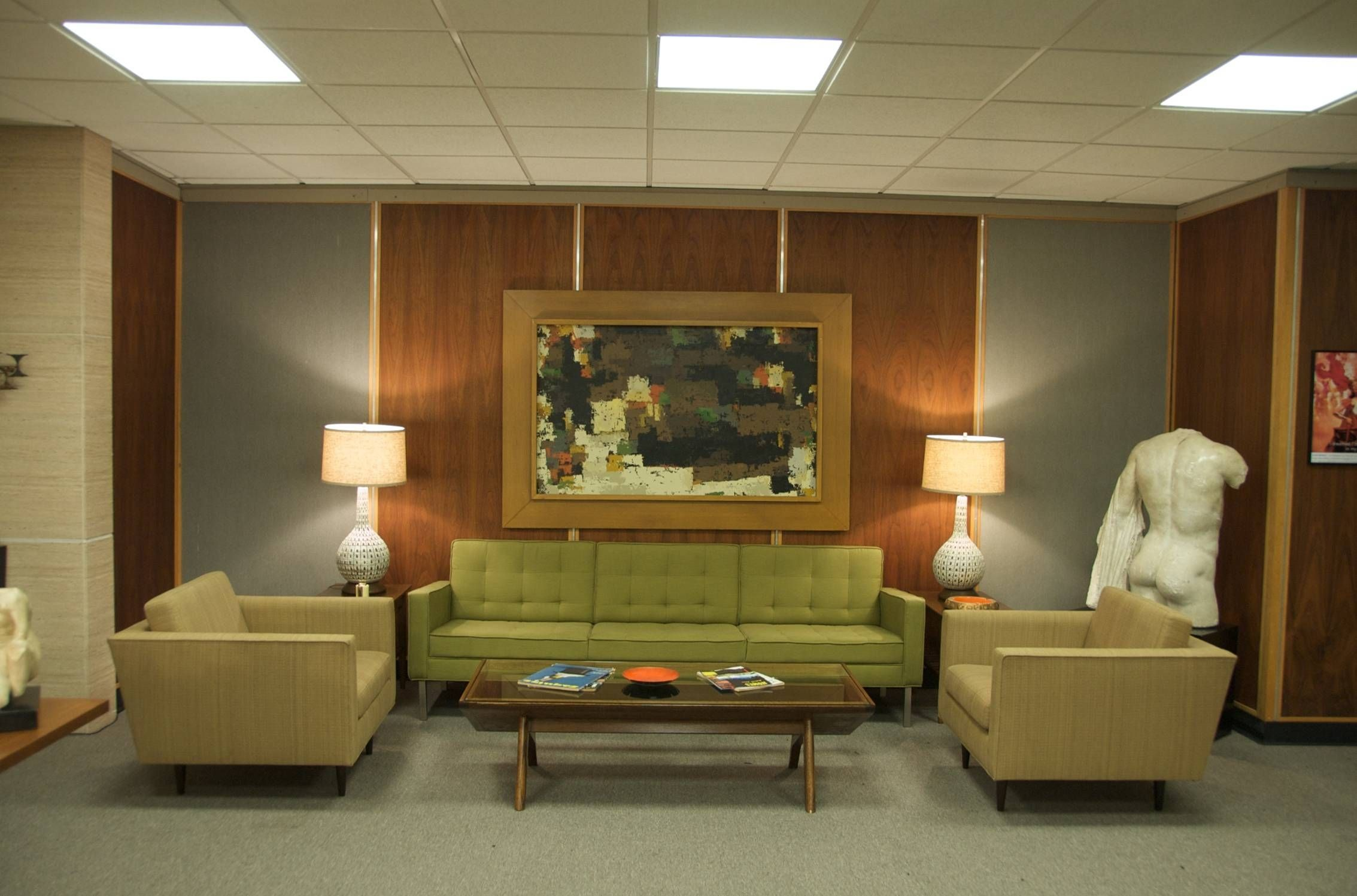 One Of Our Favorite Sets From Seasons Of Mad Men Is Roger Sterlingu0027s Office,  Complete With A John Keal Coffee Table For Brown Saltman.