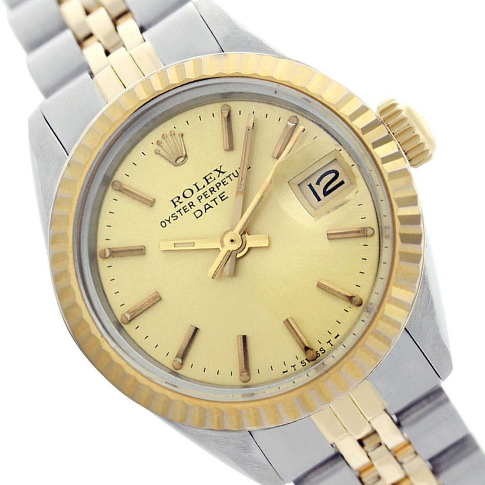 fee0c6b9c9e Swiss Rolex Lady Datejust 69173 18K YG/Steel Champagne Stick Jubilee Band  Watch #Rolex #Casual