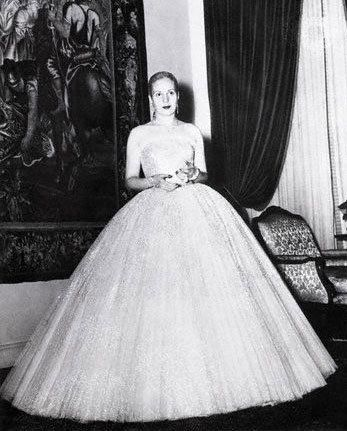 Evita peron wedding dress