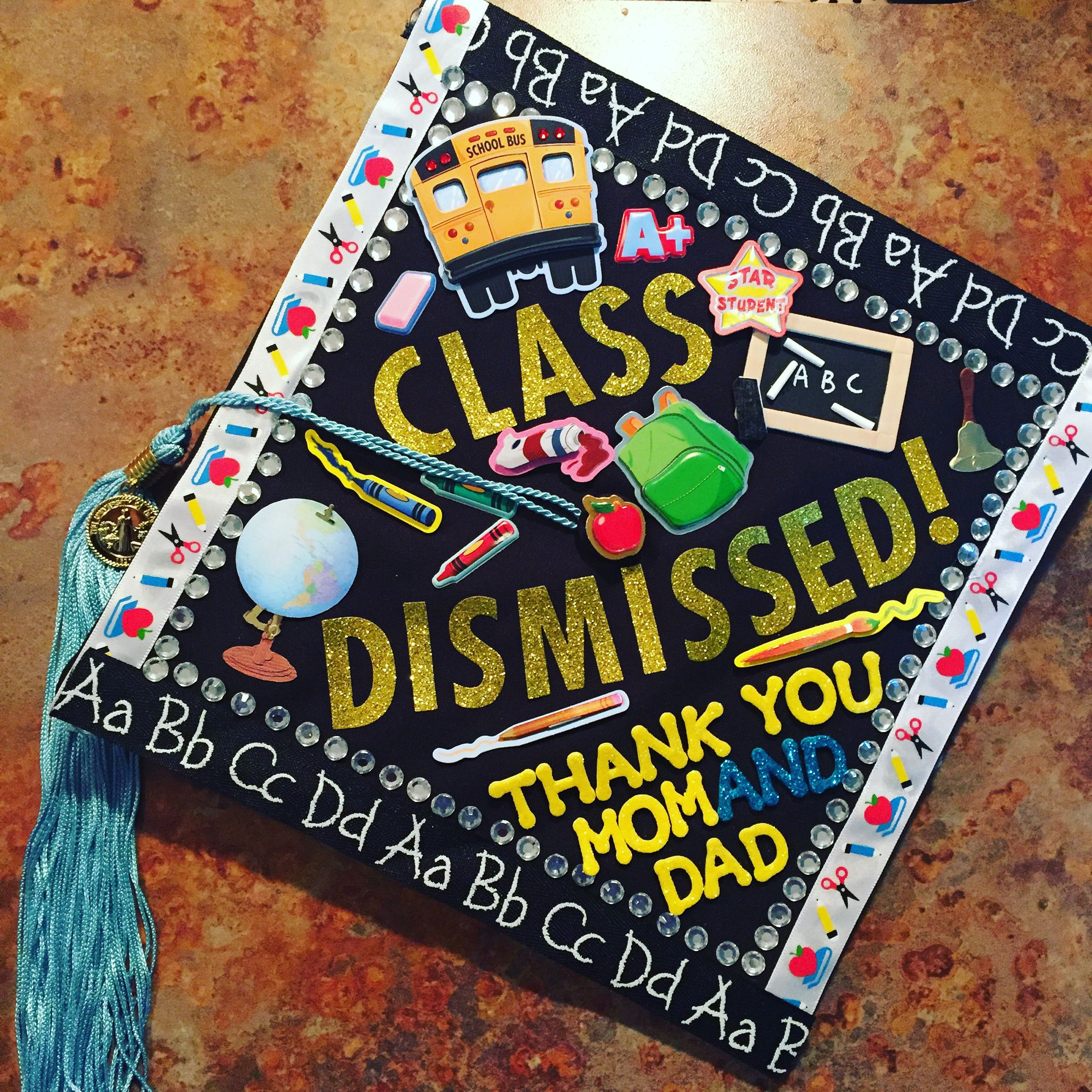 Graduation cap design elementary Education major graduation