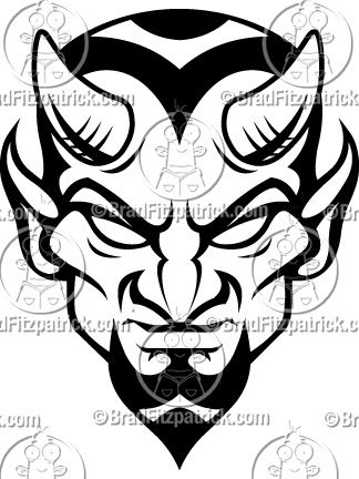 how to draw a devil face