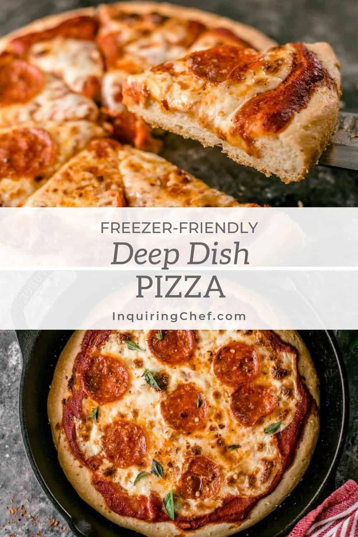 Deep Dish Pizza Recipe Easy Freezer Meals Dinner Recipes Easy