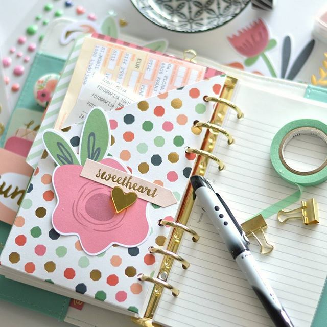floramfarkas I love my pretty DIY pocket in my @websterspages planner. I used @mymindseyeinc On trend 2 products from @likeforevershop Little Things Kit to create. Check the tutorial on my blog. {Link in profile}