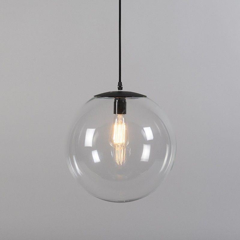 Hanglamp Pallon 35 transparant lamp voor badkamer - KJ&V ...