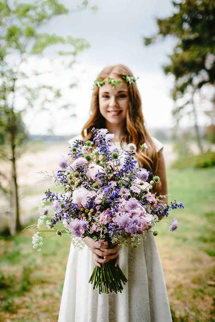 Brautstrauss Lila Mit Scabiose Hochzeitsblumen Hannover Sonja
