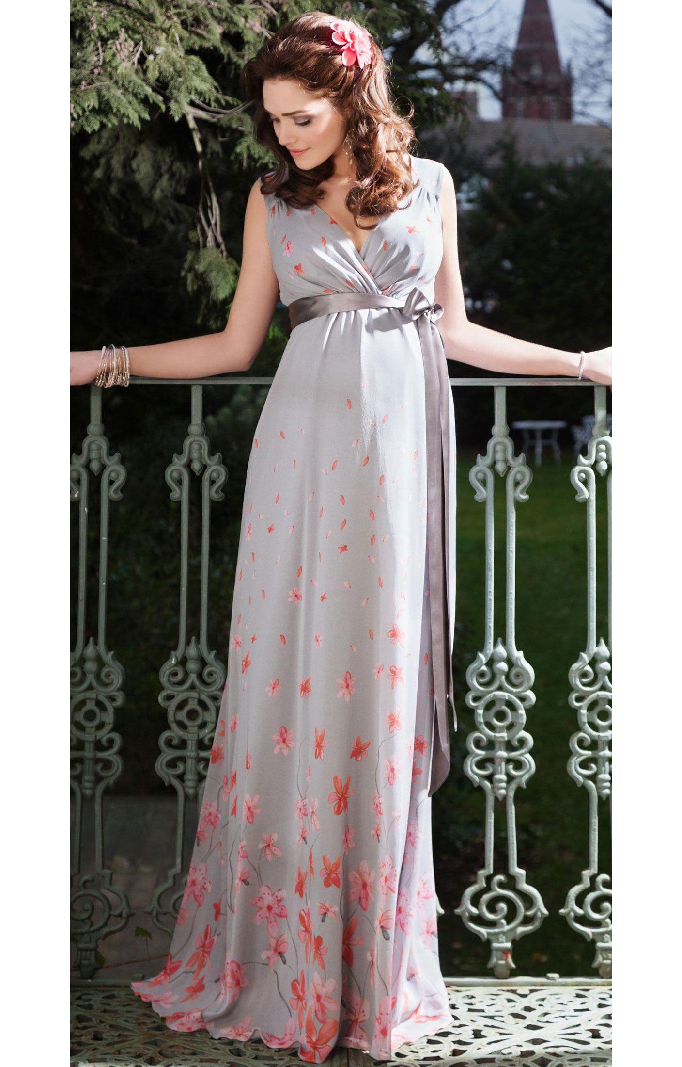 Jasmine silk gown long jasmine tiffanys and tiffany rose jasmine maternity gown long peach blossom by tiffany rose ombrellifo Images
