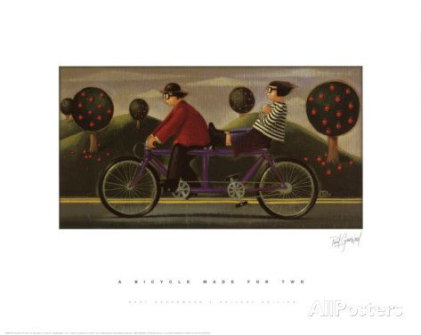 A Bicycle Made For Two Pôsteres por Paul Greenwood na AllPosters.com.br