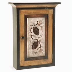 Lodge Furniture | American Country / Pine Cone Wall Cabinet / Home Decor
