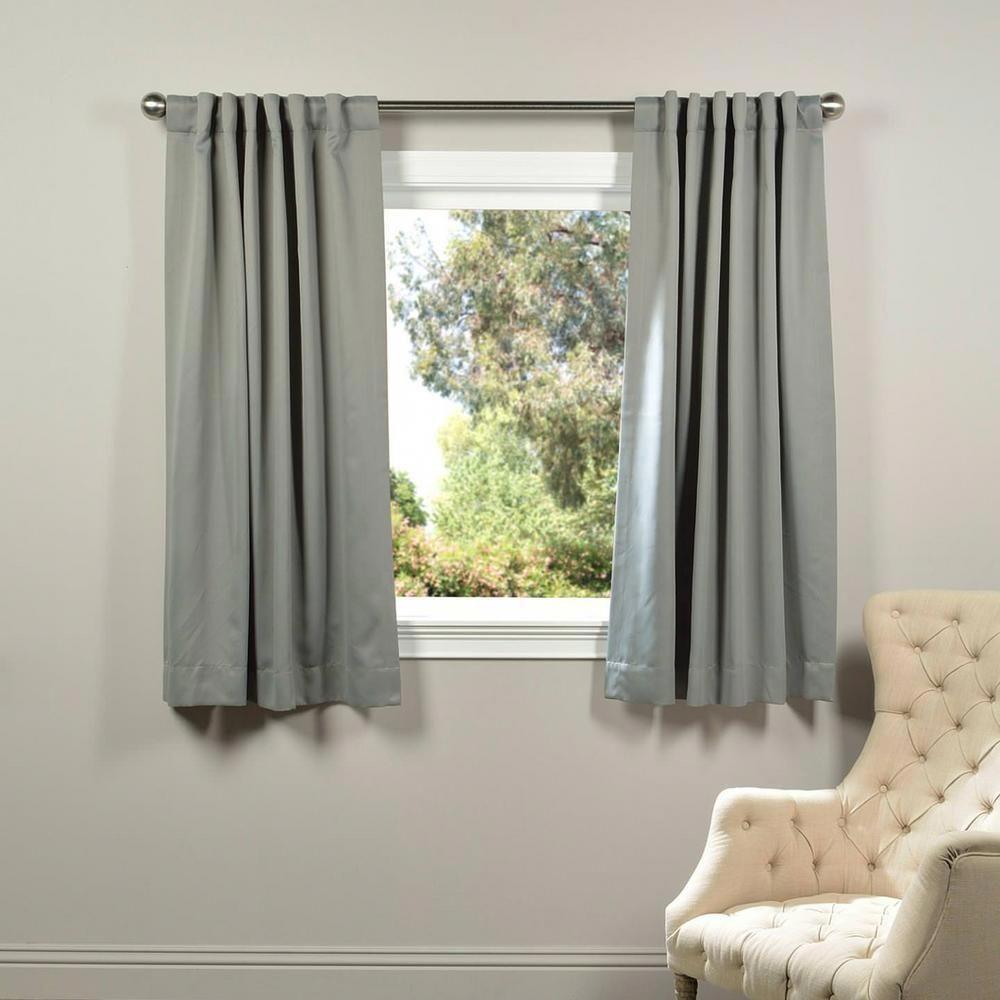 Exclusive Fabrics Furnishings Semi Opaque Neutral Grey Blackout