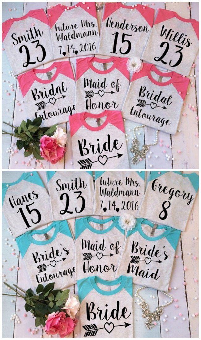 Team Name For Bridesmaids : bridesmaids, Cutest, Bridesmaid, Shirts, Bachelorette, Around!, Bachelorette,, Bridal, Party, Tshirts,, Wedding