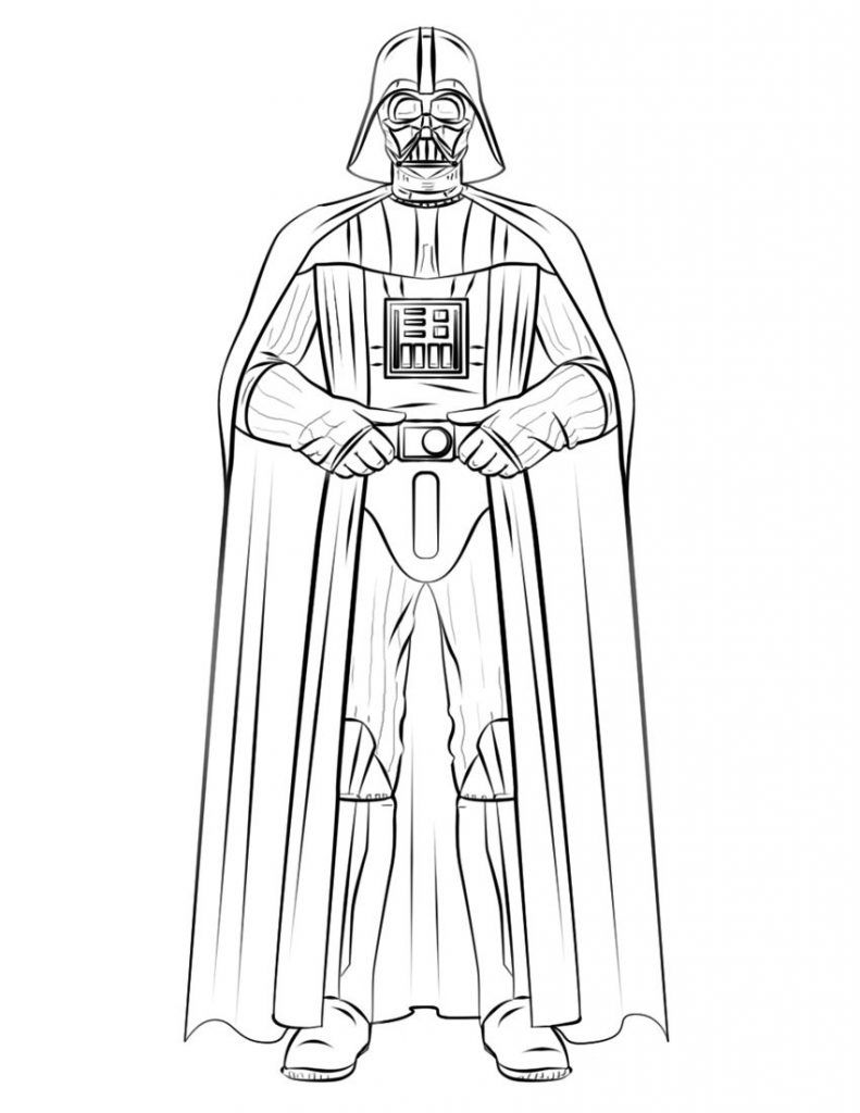 Darth Vader Coloring Pages Star Wars Drawings Star Wars Colors