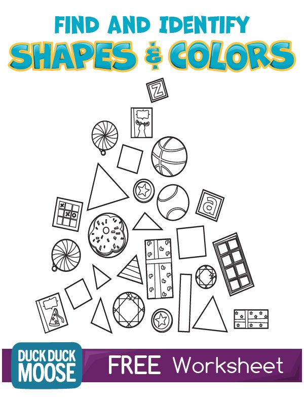 Shapes and Colors Worksheet KINDERGARTEN COMMON CORE KG2 KG – Common Core Practice Worksheets