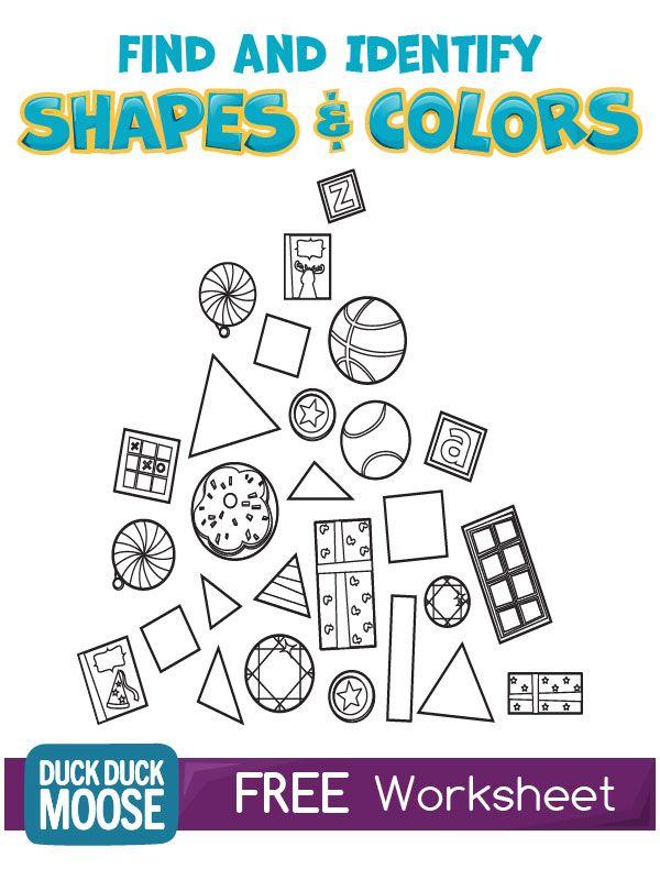 shapes and colors worksheet kindergarten common core k g 2 k g 3 k g 4 skill building. Black Bedroom Furniture Sets. Home Design Ideas