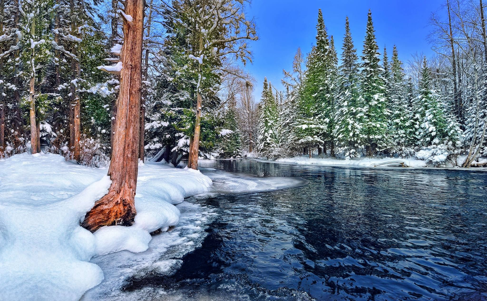 Beautiful Picture Of The Jordan River In Michigan Winter Time Thank You Pure Michigan Pure Michigan Michigan Tourism Michigan Travel