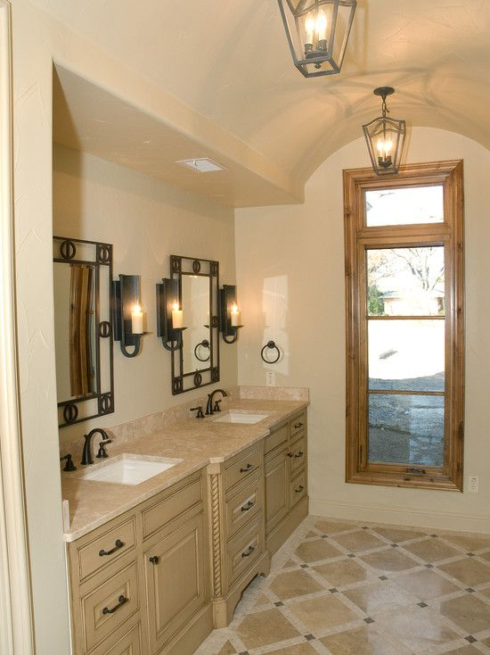 Comfortable Bathroom Design Spanish Colonial Revival