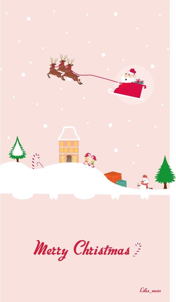 Pin By Yanina Ruiz On Winter And Christmas Wallpapers Cute Christmas Wallpaper Christmas Phone Wallpaper Iphone Wallpaper Vintage